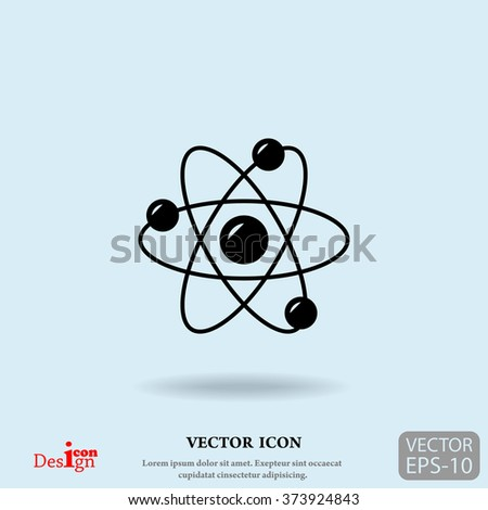 atom vector icon - stock vector