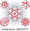 Atoms - stock vector