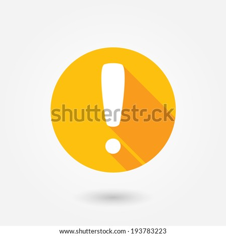 Attention caution sign icon. Exclamation mark. Hazard warning symbol. Four squares. Colored Flat design button. Vector - stock vector