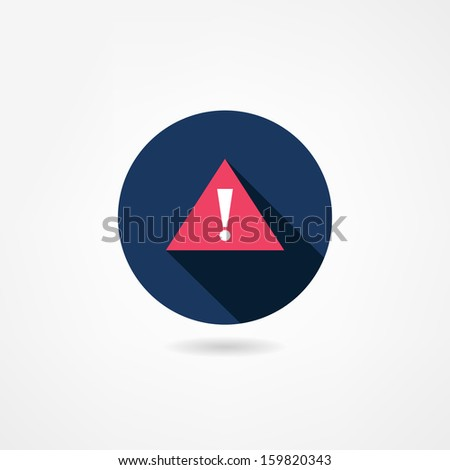 attention icon - stock vector