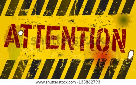 attention sign, vector illustration - stock vector