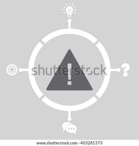 Attention sign with exclamation mark Icon. Attention sign with exclamation mark Icon Vector. Attention sign with exclamation mark Icon Object. Attention sign with exclamation mark Icon Picture. - stock vector