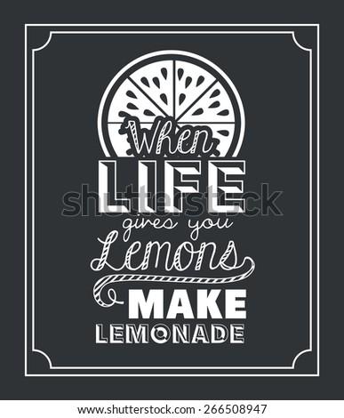 Attitude phrase design over black background, vector illustration - stock vector