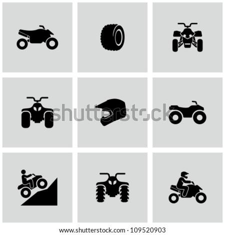 ATV icons - stock vector