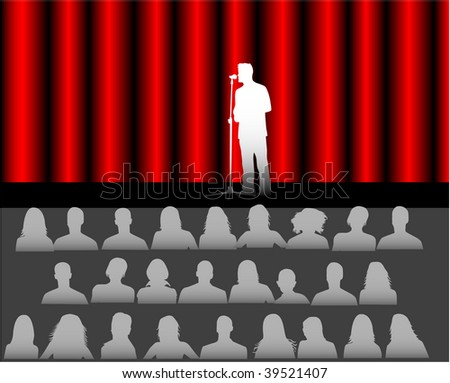 audience in the theater - stock vector