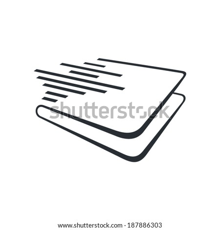 Audio book sign Branding Identity Corporate vector logo design template Isolated on a white background - stock vector