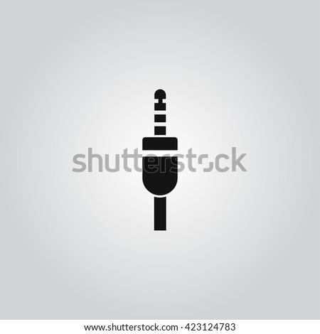 Audio cable icon vector - stock vector