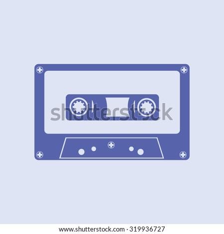 Audio Cassette, Tape Illustration Vector - stock vector