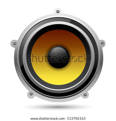 Audio speaker, eps10 - stock vector