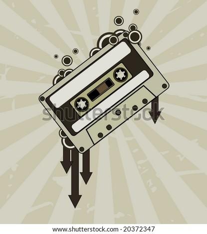 Audio tape - stock vector