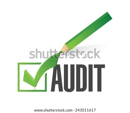 audit check mark illustration design over a white background - stock vector