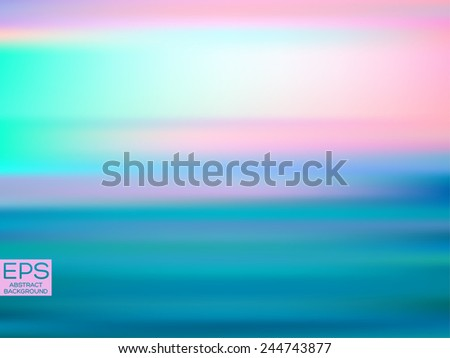 Aurora borealis. Vector art. Illustration of soft colored abstract background. Web and mobile interface template. Minimalistic backdrop. Editable. Blurred. Light rays. - stock vector