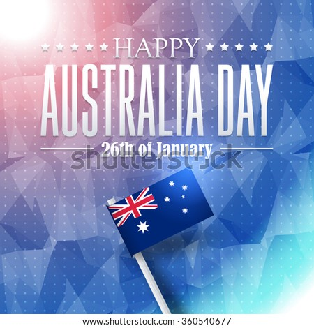 Australia Day Concept Polygonal Background on Australia Flag Design - stock vector