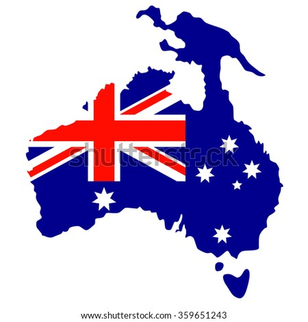 Australia Day. The national flag. Vector Illustration isolated on white background. - stock vector