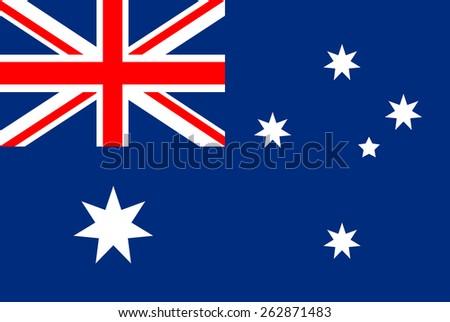 Australia Flag - stock vector