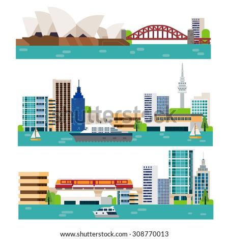 australia landscape - stock vector