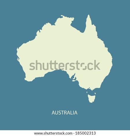 AUSTRALIA MAP VECTOR - stock vector