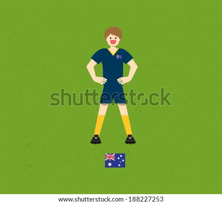 Australia Soccer Tables  - stock vector