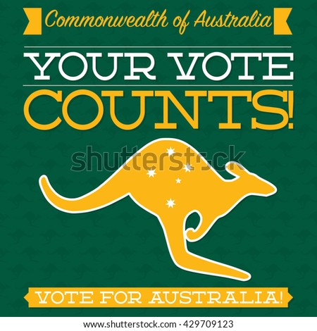 Australian Election card in vector format. - stock vector
