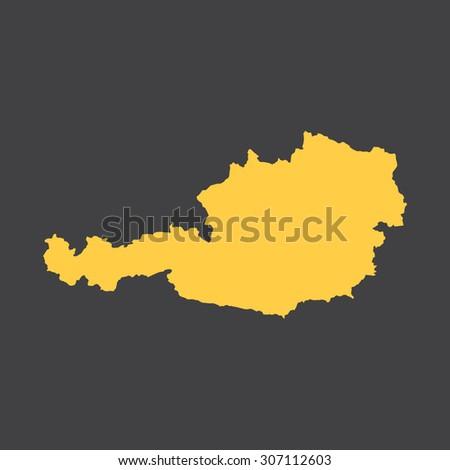 Austria country border,map. Vector EPS8 - stock vector