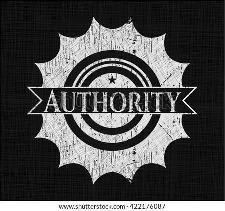 Authority on chalkboard - stock vector