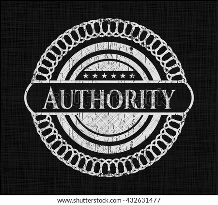 Authority written with chalkboard texture - stock vector