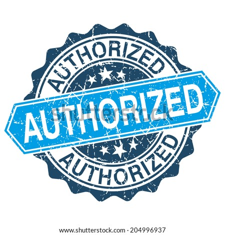 Authorized grungy stamp isolated on white background - stock vector