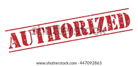 authorized vector stamp on white background - stock vector