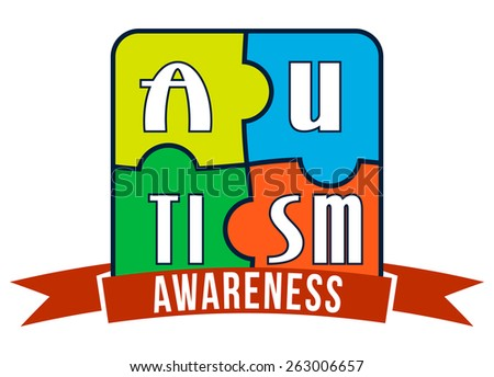 Autism Awareness T-shirt Typography Graphics, Vector Illustration - stock vector