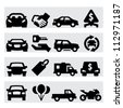 Auto business icons - stock vector