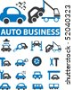 auto business signs. vector - stock vector