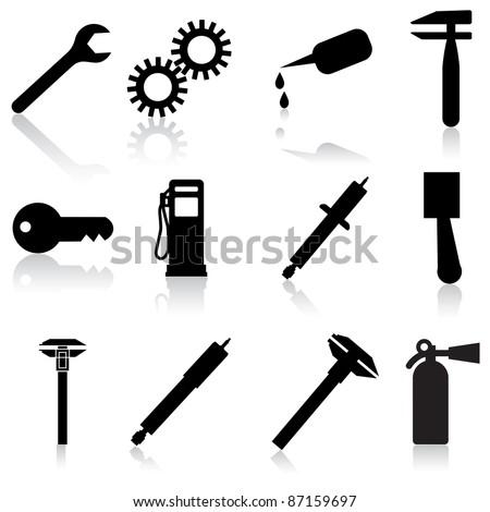 Auto Car Repair Service Icon Symbol - stock vector