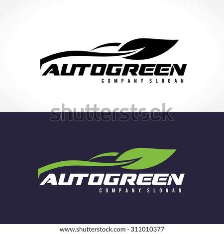 Auto Green logo,automotive,car logo,eco logo,eco sports,eco car,Vector Logo Template. - stock vector