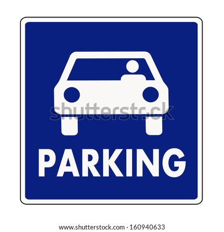 Auto parking sign - stock vector