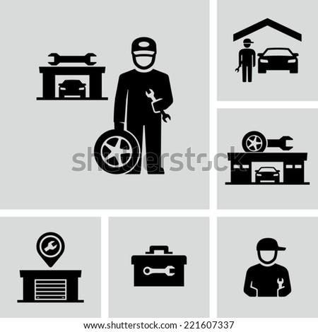 Auto repair - stock vector