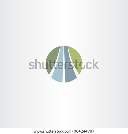 auto road icon highway logo vector symbol - stock vector