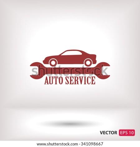 auto service icon. One of set web icons - stock vector