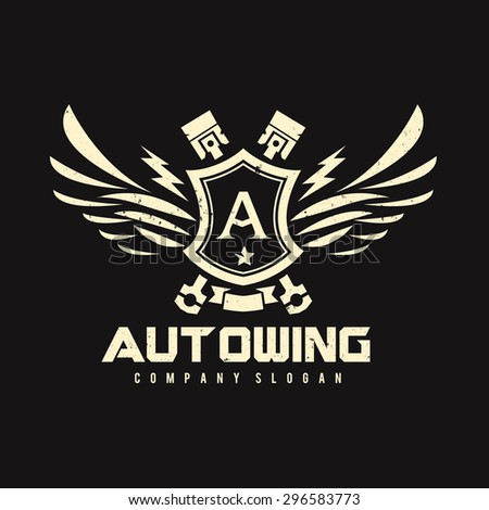 Auto Wing Vector Logo Symbol - stock vector