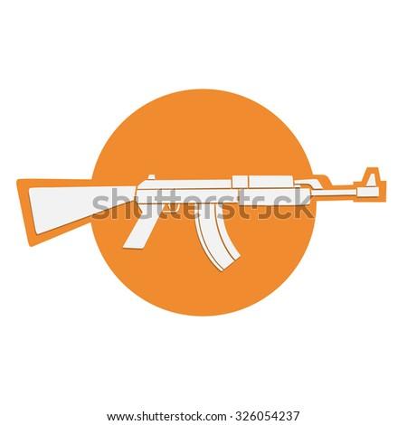 automatic gun symbol - stock vector