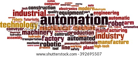Automation word cloud concept. Vector illustration - stock vector