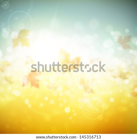 Autumn abstract background. Eps 10 - stock vector