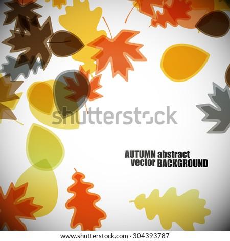 autumn background - stock vector