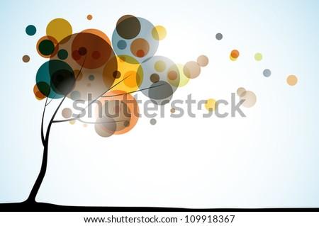 autumn background, eps10 - stock vector