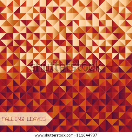 Autumn Background / Falling Leaves - stock vector