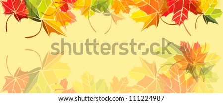 Autumn background of colored leafs - stock vector