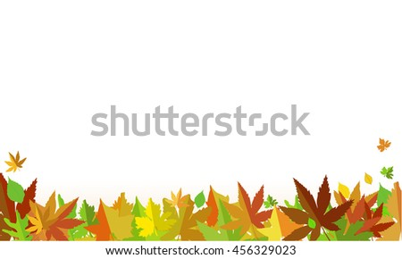 Autumn background of leaves - stock vector