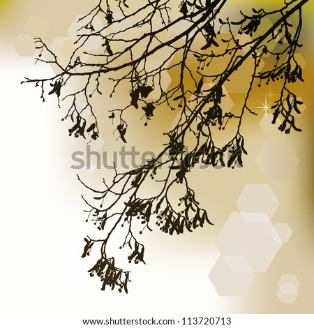 Autumn background, ornament - stock vector