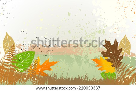 Autumn background with a space for a text - stock vector