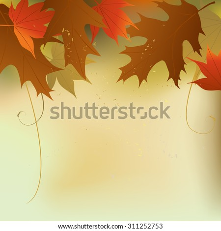 Autumn background with a space for text - vector illustration - stock vector