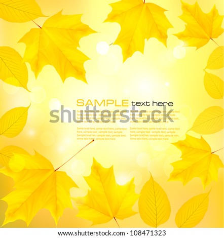 Autumn background with leaves. Back to school. Vector illustration. - stock vector